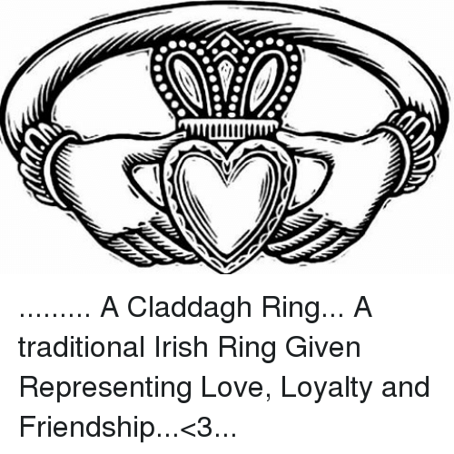 A Claddagh Ring A Traditional Irish Ring Given Representing Love