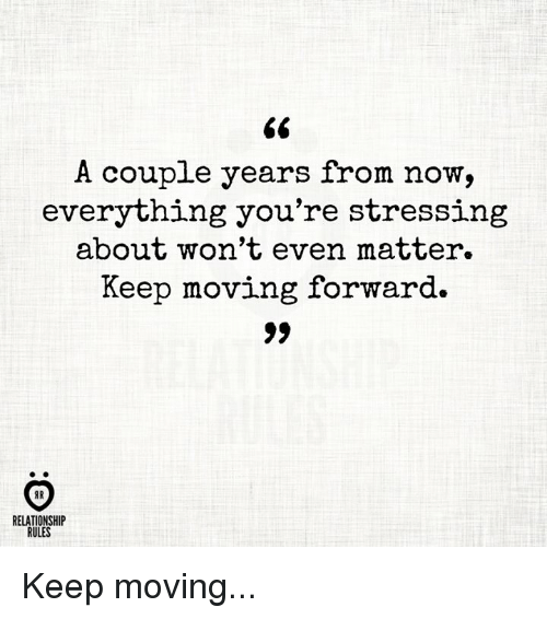 moving forward in a relationship