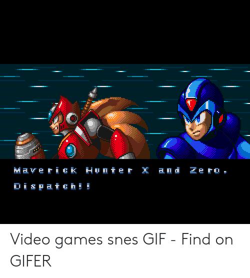 A D Ze Ro Maverick Hunter X Is Atchi Video Games Snes GIF - Find on