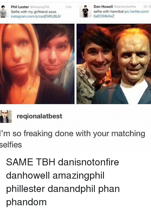 Instagram Memes And Selfie A Dan Howell Gdanisnotonfire Phil Lester AmazingPhil With