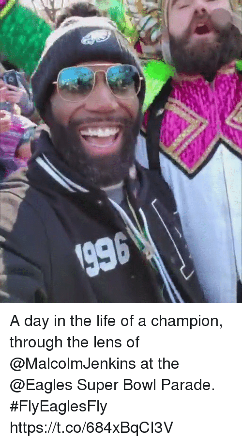 me.me: A day in the life of a champion, through the lens of @MalcolmJenkins at the @Eagles Super Bowl Parade. #FlyEaglesFly https://t.co/684xBqCI3V