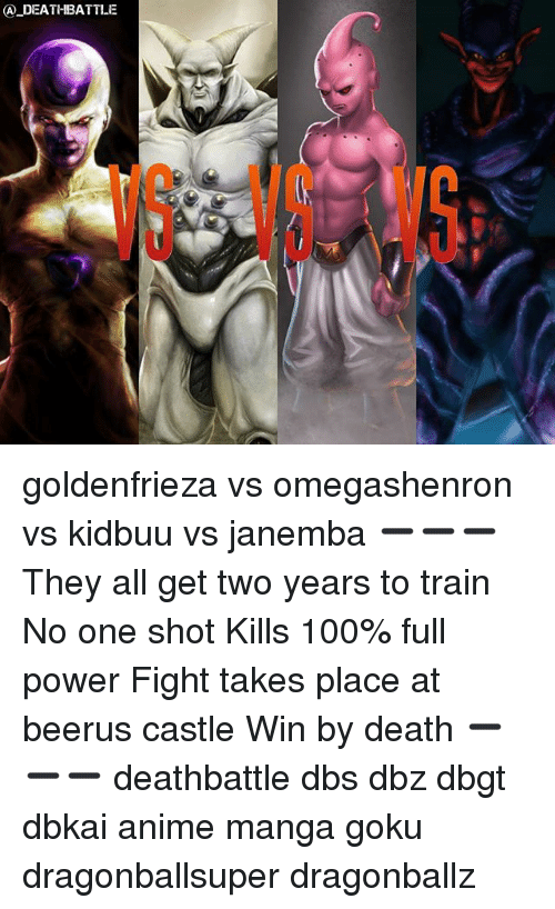 A DEATHBATTLE G VSV Goldenfrieza vs Omegashenron vs Kidbuu vs