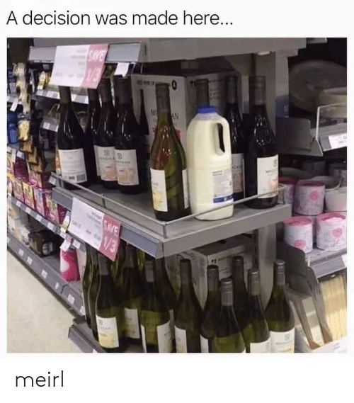 MeIRL, Made, and Decision: A decision was made here meirl