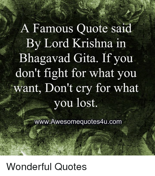 Image of: Bhagwad Gita Memes Lost And Quotes Famous Quote Said By Lord Krishna In Bhagavad Meme Famous Quote Said By Lord Krishna In Bhagavad Gita If You Dont
