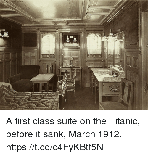 A first class suite on the titanic before it sank march Who was on the titanic in first class