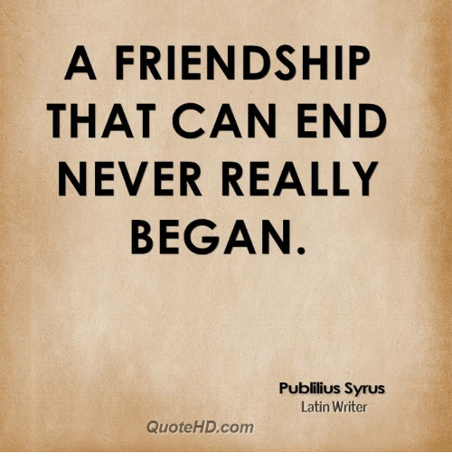 the end of a friendship