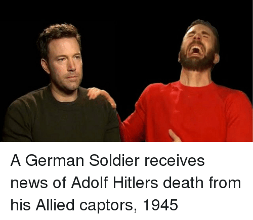 News, Death, and Hitler: A German Soldier receives news of Adolf Hitlers death from his Allied captors, 1945
