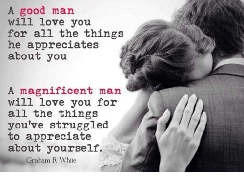 how to appreciate a man who loves you