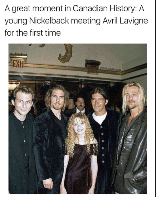 A great moment in canadian history a young nickelback meeting avril history nickelback and time a great moment in canadian history a young m4hsunfo