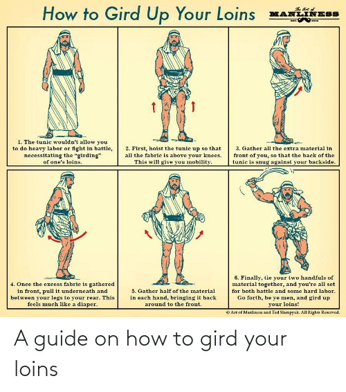 How To, How, and Guide: A guide on how to gird your loins