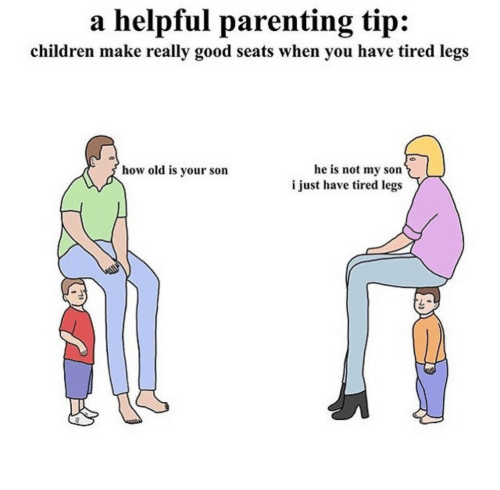 A Helpful Parenting Tip Children Make Really Good Seats When