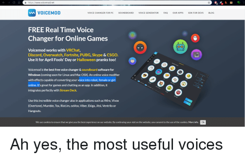 A Httpswwwvoicemodnet VOICEMOD VOICE CHANGER FOR PC SOUNDBOARD VOICE