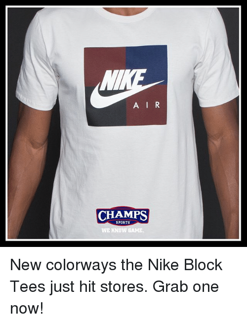 b2049f623 A IR CHAMPS CHAMPS SPORTS WE KNOW GAME New Colorways the Nike Block ...