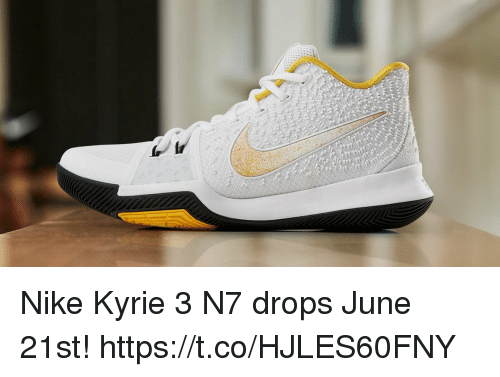 sale retailer ddb84 9a590 Memes, Nike, and 🤖  A J, Nike Kyrie 3 N7 drops