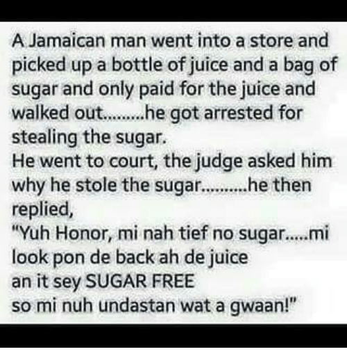A Jamaican Man Went Into a Store and Picked Up a Bottle of