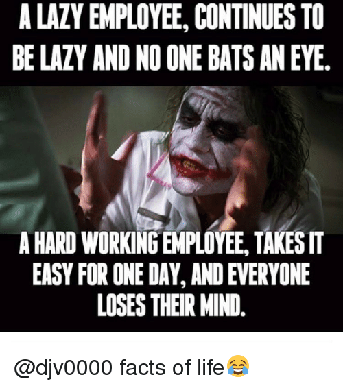 A Lazy Employee Continues To Be Lazy And No One Bats Aneye