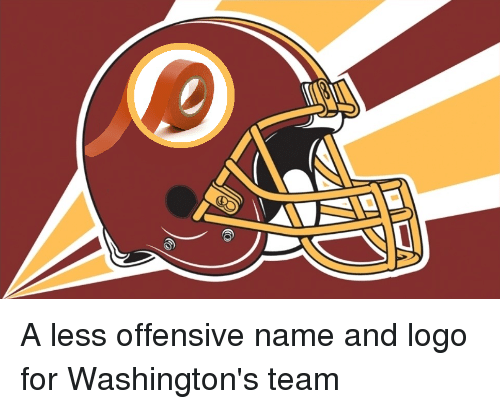 A Less Offensive Name and Logo for Washington's Team   NFL Meme on ME ME