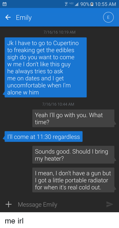 Dating a guy who carries a gun #2