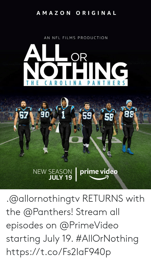 293285c7 A MA ZO N ORIGINAL AN NFL FILMS PRODUCTION ALL NOTHING OR THE ...