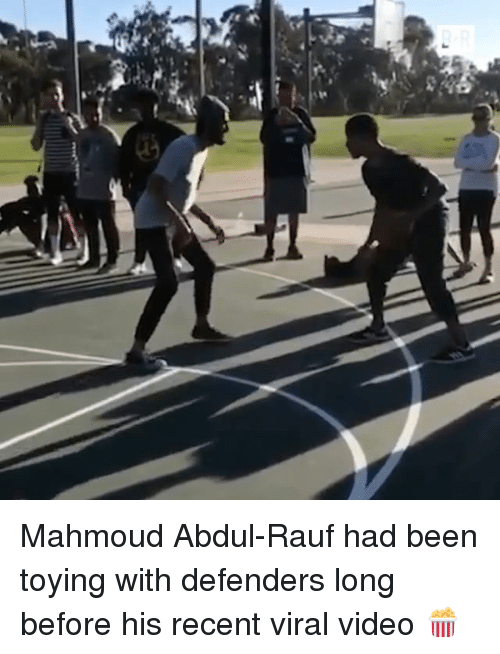 Sports, Video, and Been: -A Mahmoud Abdul-Rauf had been toying with defenders long before his recent viral video 🍿