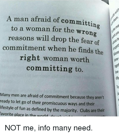 What causes men to be afraid of commitment