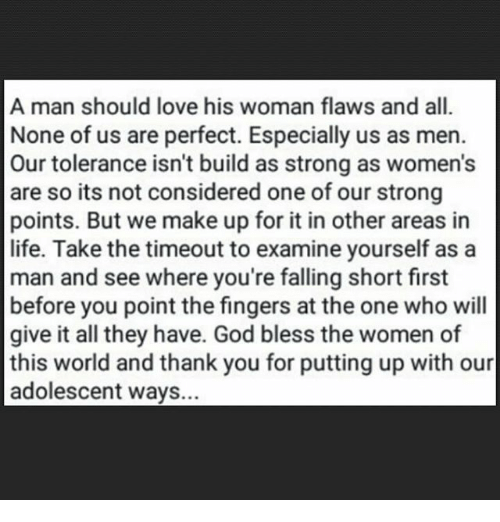 What A Man Should Do For His Woman