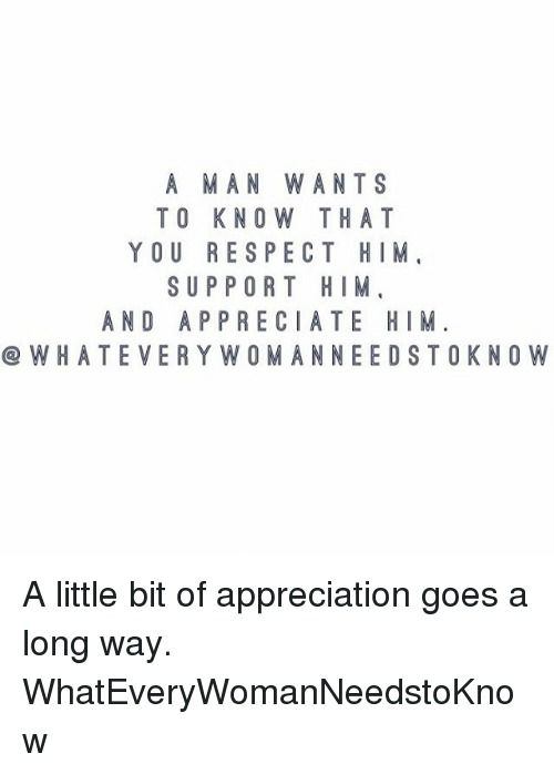 You him a How to respect man tell