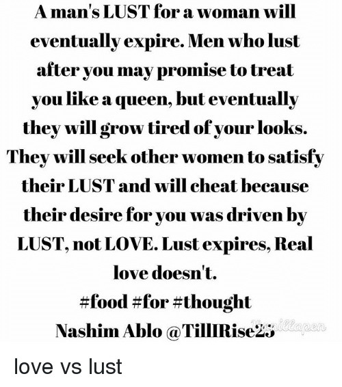 lust not love