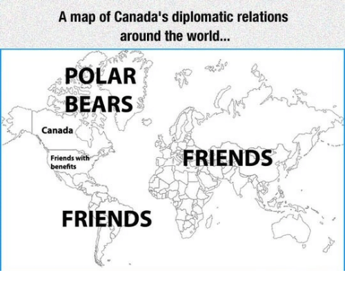 A Map Of Canada S Diplomatic Relations Around The World