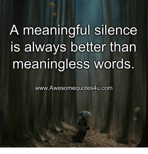 a meaningful silence is always better than meaningless words www awesomequotes4u com 12408441 ✅ 25 best memes about silence silence memes,Silence Memes