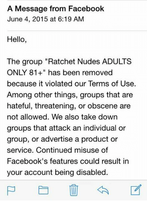 Facebook adults groups