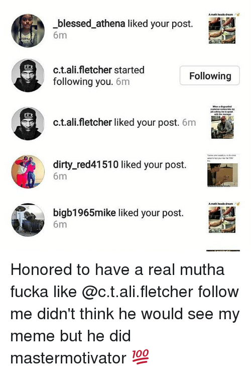 A Meth Heads Dream Blessed Athena Liked Your Post 6m Ctali
