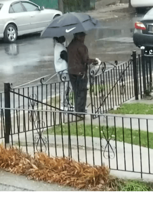 Home, Mom, and All The: A mom was wondering where her son had gone - she found out that he had seen an elderly neighbor walking in the rainstorm without an umbrella. He walked the neighbor all the way home
