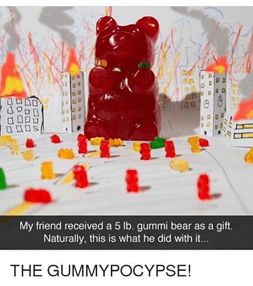 a my friend received a 5 lb gummi bear as 21170746 ✅ 25 best memes about gummi bears gummi bears memes
