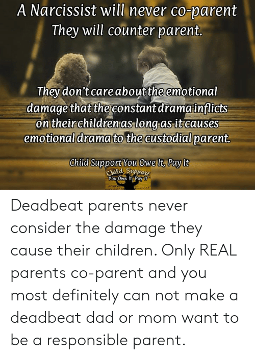 A Narcissist Will Never Co-Parent They Will Counter Parent