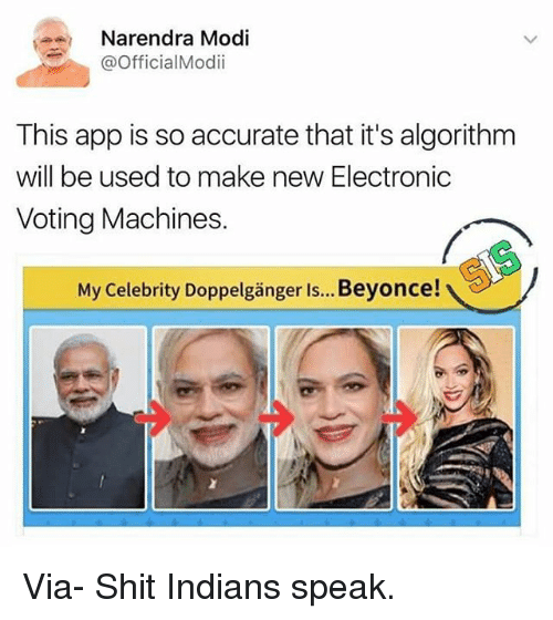 a narendra modi official modii this app is so accurate 21238926 ✅ 25 best memes about celebrity doppelganger celebrity