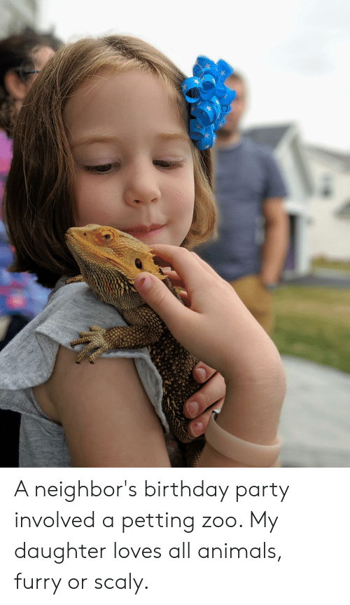 A Neighbor's Birthday Party Involved a Petting Zoo My