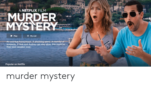 A NETFLIX FILM MURDER MYSTERY My List Play an Overdue