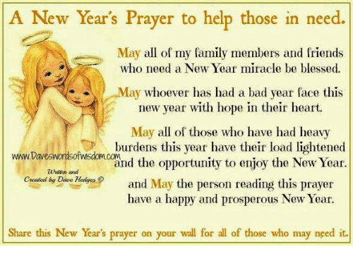 A New Year\'s Prayer to Help Those in Need May All of My Family ...