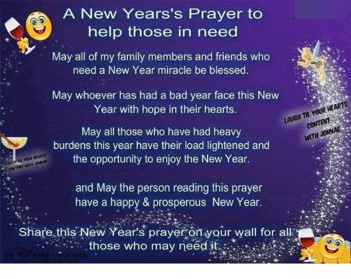A New Years\'s Prayer to Help Those in Need May All of My Family ...