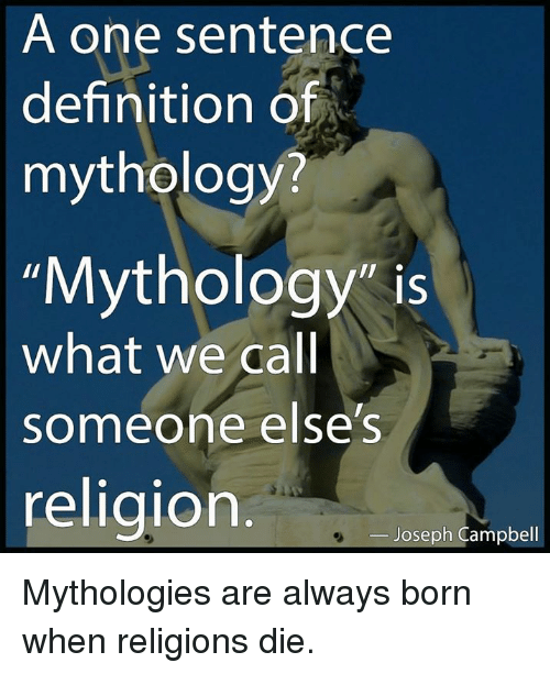 an argument that religion is a myth Our guide for an exemplification essay on myths and religion will an exemplification essay on myths and religion including facts to support your arguments.