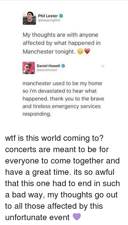 A Phil Lester Phil My Thoughts Are With Anyone Affected By What