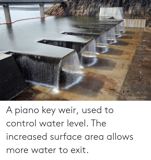 A Piano Key Weir Used to Control Water Level the Increased
