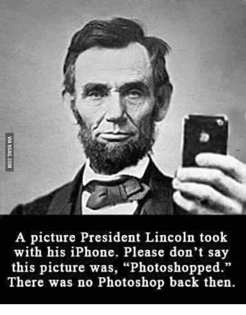 Image result for lincoln with an iphone