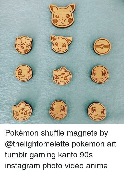 A Pokémon Shuffle Magnets by Pokemon Art Tumblr Gaming Kanto