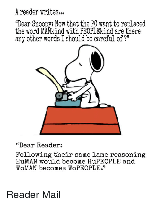 A Reader Writes Dear SnoopyNow That the PC Want to Replaced