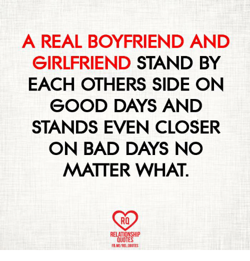 Bad Memes And Good A REAL BOYFRIEND AND GIRLFRIEND STAND BY EACH OTHERS