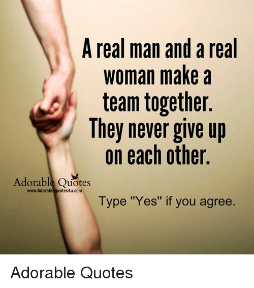 A Real Man and a Real Woman Make a Team Together They Never ...