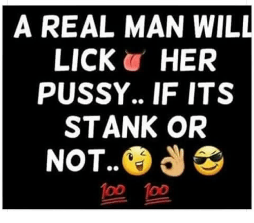 Real men lick pussy poster
