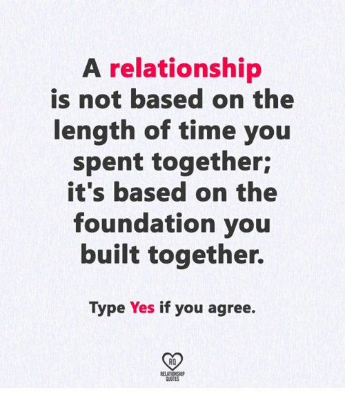 time in a relationship